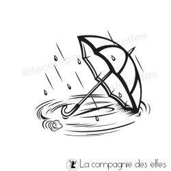 Achat tampon parapluie