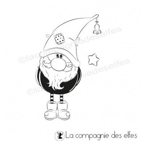 Home Déco pour Noël Tampon-lutin-de-noel-clochette