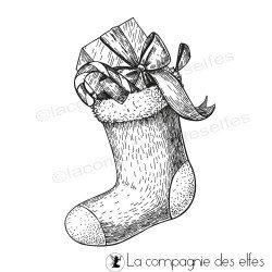 Tampon botte de Noël
