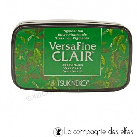 carte shaker box 1/3 Encre-versafine-clair-green-oasis