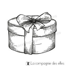 Tampon paquet cadeau rond