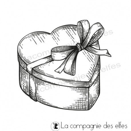 bling bling 2/3 Tampon-paquet-cadeau-coeur