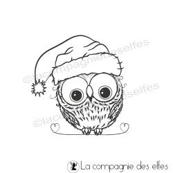 Tampon encreur de Noël | tampon encreur chouette