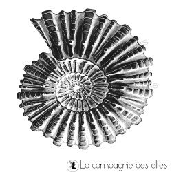 Etampe coquillage | shell art stamp | tampon scrap vacances | tampon la mer