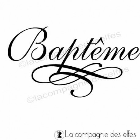 Tampon bois baptême | tampon scrap baptême