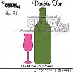 Dies bouteille verre