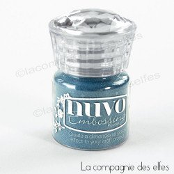 Nuvo embossing powder blue