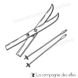 Tampon skis et bâtons