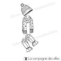 Tampon gants et tenue hiver