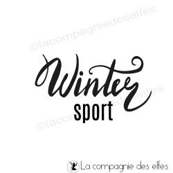 Tampon Winter sport