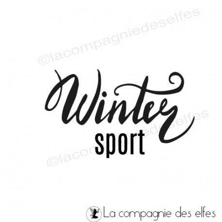 achat tampon sport winter | winter sport stamp