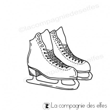 achat tampon patin glace | ice sport stamp