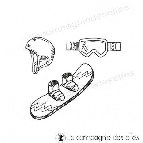 achat tampon ski | ski rubberstamp | tampon snowboard