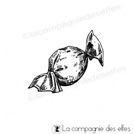 Challenge du 1er décembre sketch ATC. Tampon-encreur-papillote