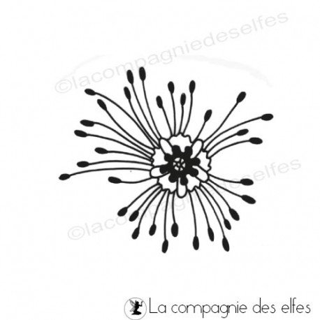 Tampon fleur azoline | tampon art scrap