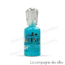 Glitter drop blue lagoon