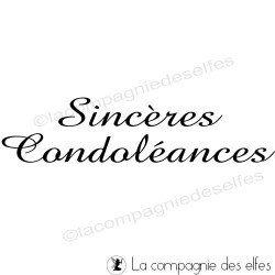 tampon encreur sincères condoléances