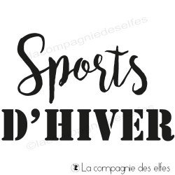Tampon sports d'hiver