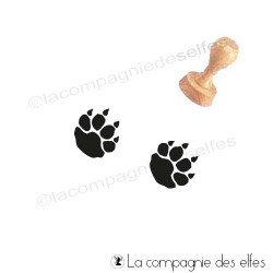 Tampon encreur trace ours   achat cachet patte animal