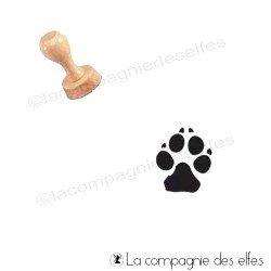 tampon patte de chien | tampon chien | tampon encreur patte animal