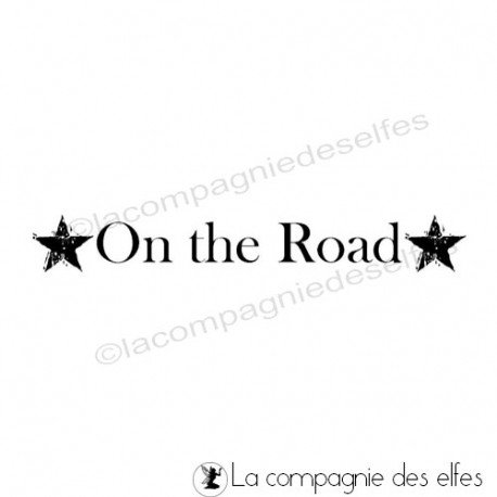 On the road stamp | timbre on the road
