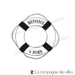Tampon bouee marine | sea rubberstamp