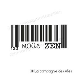 mode zen code barre tampon nm