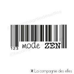 mode zen code barre tampon nm