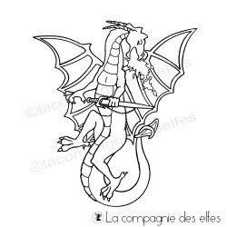 Tampon encreur dragon | achat timbre médiéval