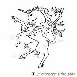 Timbre licorne | cachet médiéval