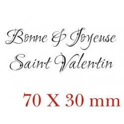 Bonne & Joyeuse Saint Valentin - tampon non monté