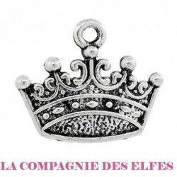 charm couronne métal