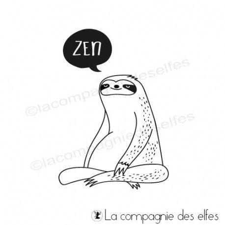 7 octobre sketch Gribouillette Tampon-encreur-paresseux-zen
