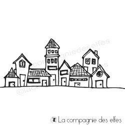 Tampon encreur maisonettes | houses rubberstamping