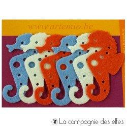 Achat hippocampe feutre