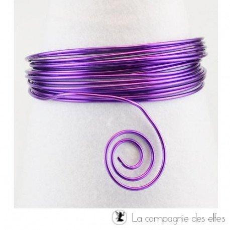 Achat fil alu | aluminium 2 mm violet