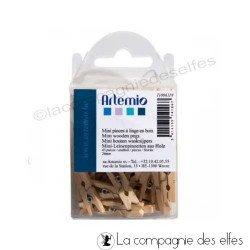 épingle ligne bois mini | achat pince à linge mini