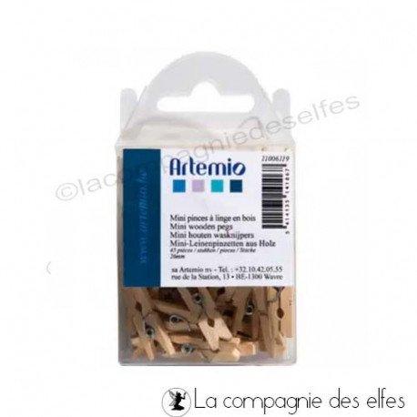 épingle ligne bois mini   achat pince à linge mini