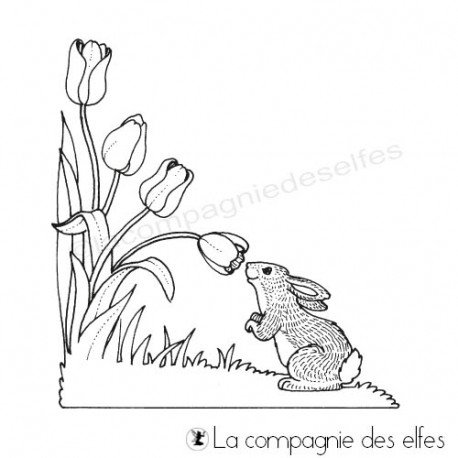 1er Mai challenge marque page Tampon-corner-lapin-gm