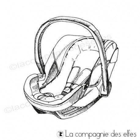 Tampon encreur bébé | tampon siège enfant