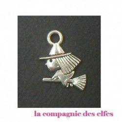 pendentif sorcière métal