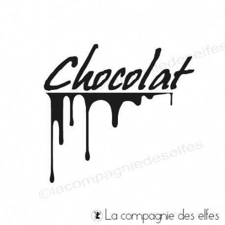 Tampon encreur chocolat | chocolat stamp