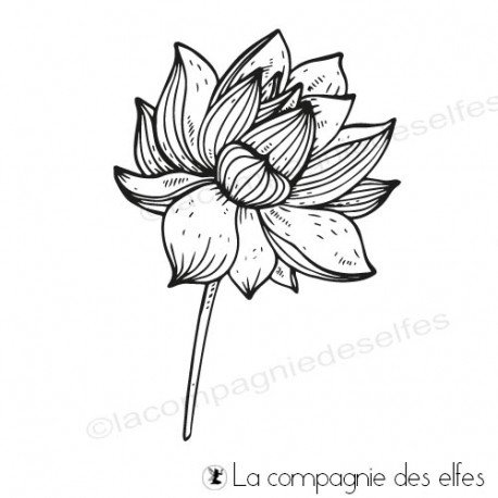lotus stempeln | lotus rubberstamp