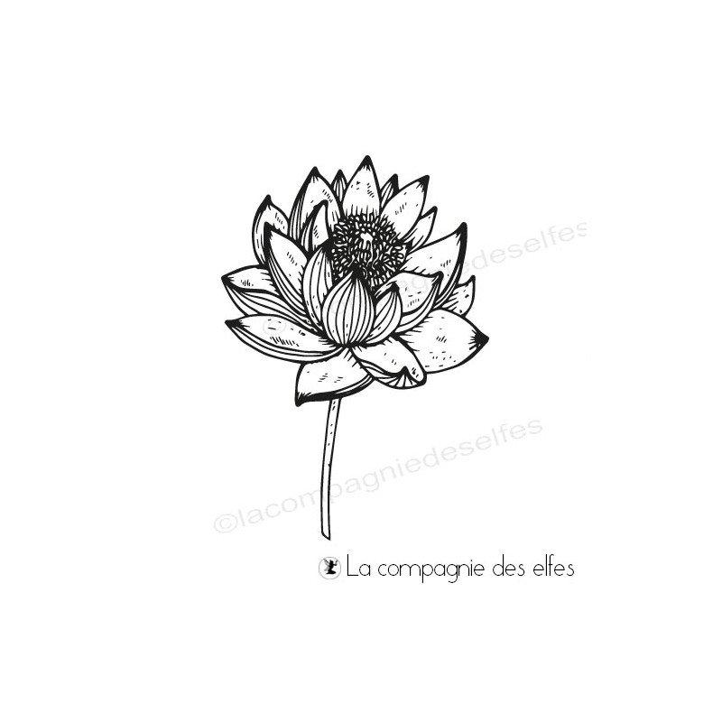 f04a46758b18 Tampon lotus éclos - La compagnie des Elfes