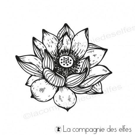lotus scrap | lotus rubberstamp