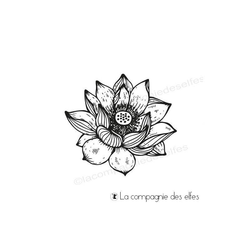 035b1f855347 Tampon fleur de lotus - La compagnie des Elfes