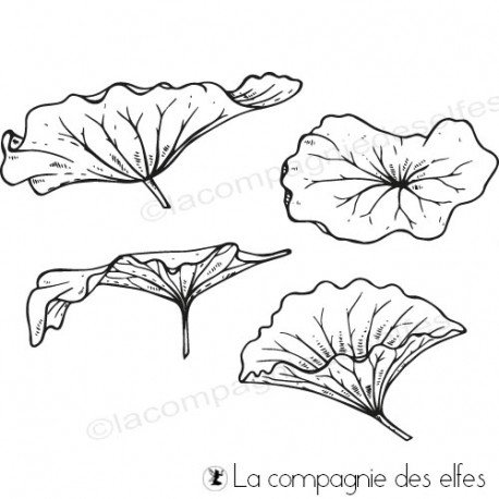 lotus scrap | lotus leaf rubberstamp