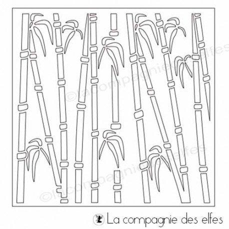 Les tampons de Sandrine Pochoir-bambou