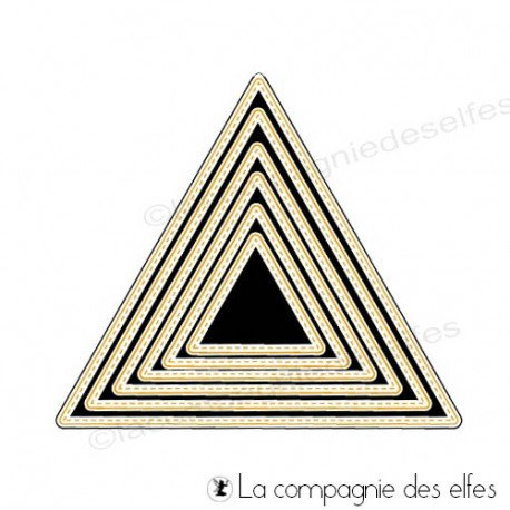 carte et motifs en 3D 1/3 Dies-triangles