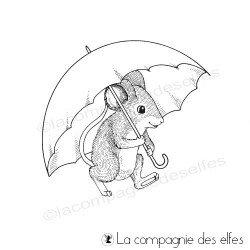 Tampon souris parapluie